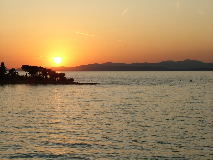 Sunset from the Brac-Split ferry