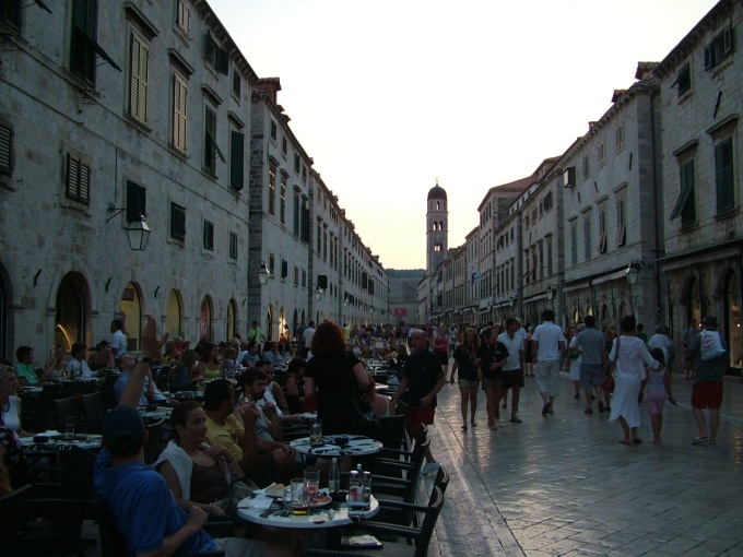 Stradun, the main street in Dubrovnik