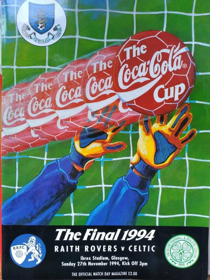 My programme from the Coca Cola Cup final